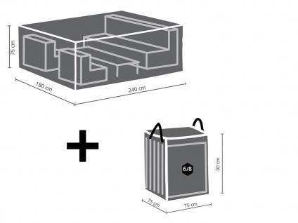 Schutzhüllen Set: Abdeckung 240x180cm für Garten Lounge + Hülle für 6-8 Kissen - Vorschau 2