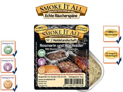 Räuchermischung BBQ Räucherspäne Räuchermehl mit Gewürzen HEIDELANDS
