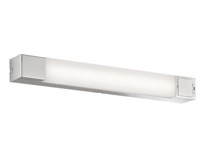 LED Badezimmerwandlampe Spiegelleuchte 60cm mit Steckdose, IP44 Badbeleuchtung