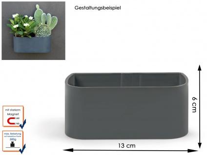 Kunststofftopf mit Magnet B. 12 cm, Grau, Wandaufbewahrung Wanddeko, KalaMitica