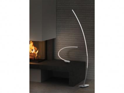 LED Tischleuchte gebogen SOLO Metall ALU gebürstet Höhe 43cm Ausladung 44cm - Vorschau 4