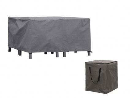 Schutzhüllen Set: Abdeckung 300x200cm für Garten Lounge + Hülle für 6-8 Polster - Vorschau 2