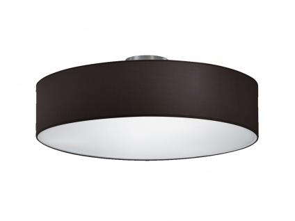 LED Deckenleuchte rund Textil Lampenschirm Schwarz Ø50cm Stoffschirm Deckenlampe