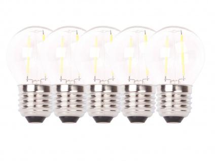 5er-Set FILAMENT-LED Globe E27, 2 Watt, 200 Lumen, 2700 Kelvin, warmw. - Vorschau 2