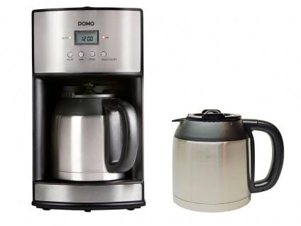 Edelstahl Filterkaffeemaschine mit Timer & 2x Isolierkanne, Kaffeefiltermaschine