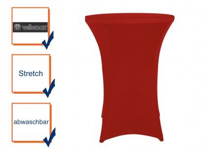 Hochwertige STRETCH Stehtisch-Husse ROT für Ø 80 x 110cm, Bistrotisch Hussen