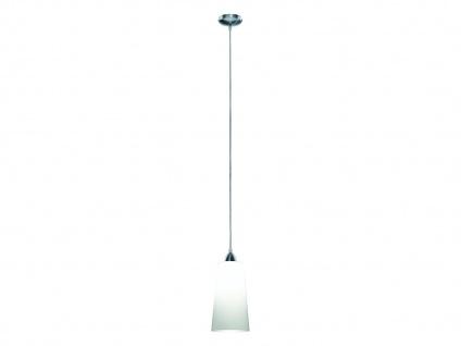 LED Pendelleuchte Ø15cm 1 flammig Milchglas Lampenschirm für über Esszimmertisch