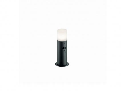 Pfosten Außenbeleuchtung mit Bewegungsmelder & dimmbare LED E27 800lm 10W, IP44