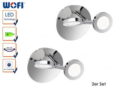 2er Set LED Wandleuchte JOYCE, Chorm, Wandlampe Wandleuchte LED Designerlampe
