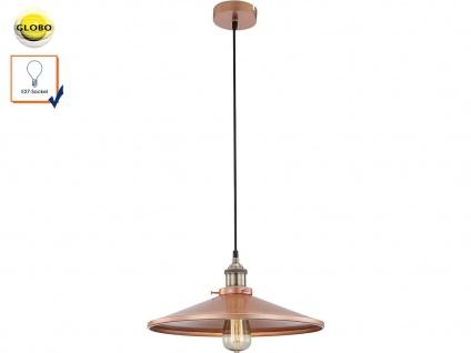 Pendelleuchte / Hängelampe Kupfer, gold matt, inkl. E27 Leuchtmittel, Globo