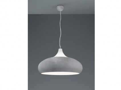 Design LED Hängelampe in BETONFARBEN + weiß aus Metall Pendelleuchte Esszimmer