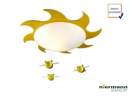 LED Deckenschale rund Sonne Bienen - Mobile Deckenlampe für Kinderzimmer Ø 53cm