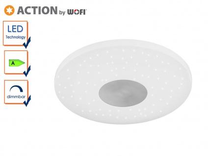 LED Deckenleuchte mit Sternhimmel-Effekt, dimmbar, Deckenschale Deckenleuchte
