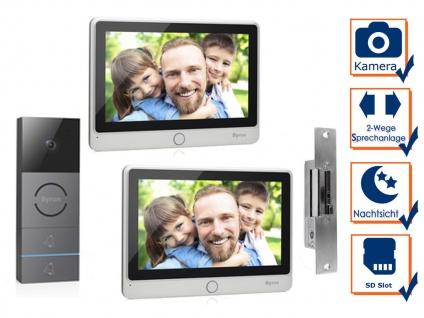 Video Türgegensprechanlage mit Nachtsichtkamera & Türöffner für Zweifamilienhaus