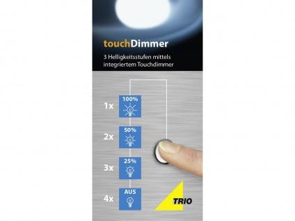 LED Touch Nachttischlampen Rostfarben mit Glasschirm dimmbar - fürs Schlafzimmer - Vorschau 3