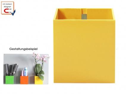 Wandaufbewahrung Wanddeko Kunststofftopf mit Magnet Ø 9 cm Gelb, KalaMitica