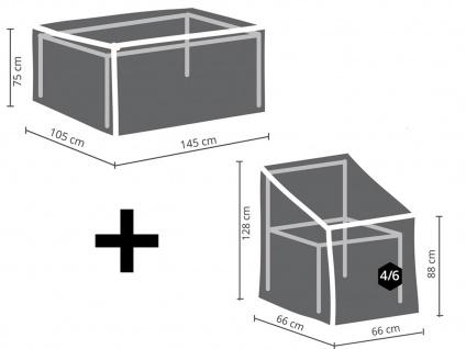 Schutzhüllen Set: 1x Hülle für Tisch max. 140cm + 1x Hülle für 4-6 Stapelstühle - Vorschau 2