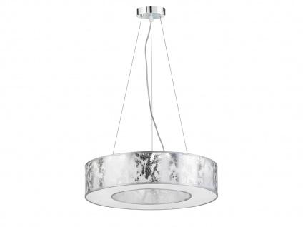 LED Pendelleuchte Ø 51 cm silbern 21W Deckenbeleuchtung Pendel Wohnzimmer - Vorschau 1