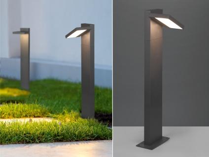 LED Wegeleuchte Sockelleuchte Anthrazit Outdoor Stehlampe Gartenlampen mit Strom