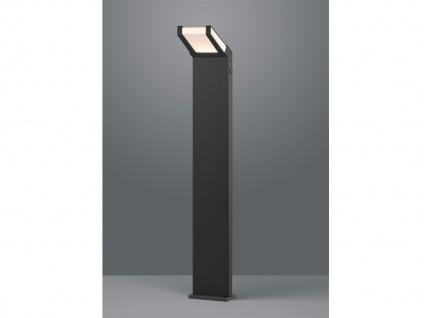 LED Außenbeleuchtug, Eckige Standlampe mit Dämmerungssensor, Aluminium Anthrazit