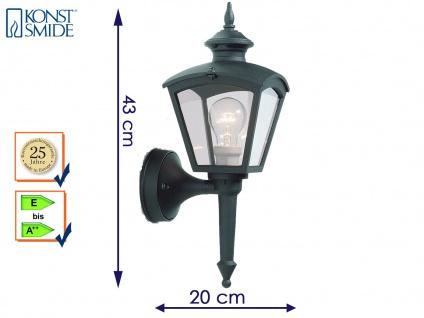 Konstsmide Wandleuchte Alu schwarz, E27, Wandlampe Fassadenlampe Aussenlampe