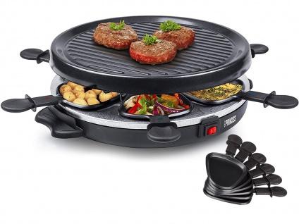 Raclette für 6 Personen 800W Ø 30cm antihaftbeschichtet - leichte Reinigung