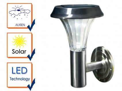 Edelstahl Wandleuchte für draußen - LED Solarbeleuchtung, IP44 geschützt, 0, 5W - Vorschau 3