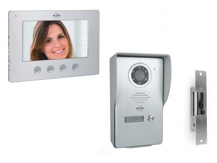 Videotürsprechanlage mit Monitor Kamera Türöffner, Klingelanlage Einfamilienhaus