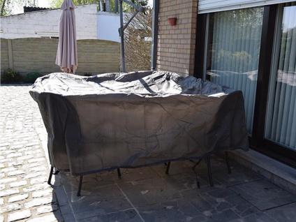 Schutzhülle Abdeckung rund für Gartenmöbel, Plane Ø 200cm witterungsbeständig - Vorschau 4