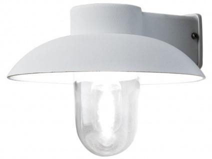 Weiße Aluminium Wandleuchte Außenwandleuchte MANI, E27, klares Glas - Vorschau 2