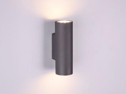 Wandleuchte Up and Down aus Metall Schwarz mit dimmbaren LEDs Strahler für Innen