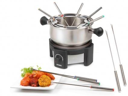 Elektro Fondue Set mit 12 Gabeln für Fleisch & Käse Fondue Edelstahl Fonduetopf