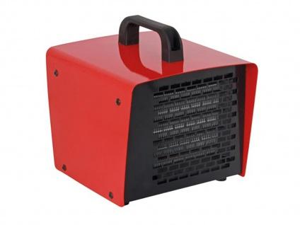 Elektrischer Bauheizer mit Thermostat, Heizgerät Elektroheizlüfter für Werkstatt