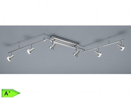 LED-Schiene, ink. 6 x 3, 6W Länge max. 150cm, Alu gebürstet Deckenstrahler