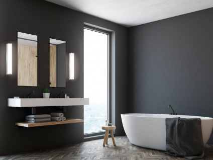 2x LED Wandlampen 30cm für Badezimmer über Badspiegel Badlampen Spiegelleuchten - Vorschau 4