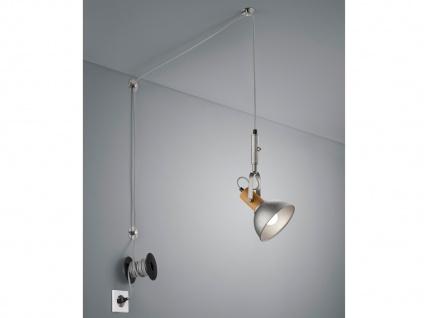 Silber antike Pendellampe mit Kabel & Stecker für Steckdose - Schirm schwenkbar - Vorschau 5