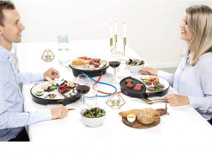 Rundes Teppanyaki Gerät für 2 Personen LOW FAT Elektro Grillplatte für Zuhause