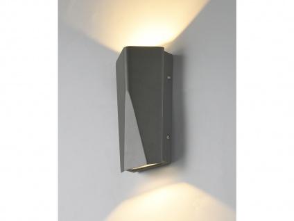 Moderne Clean Cut Up & Down LED Außenwandleuchte mit eckigem Design, mehrflammig