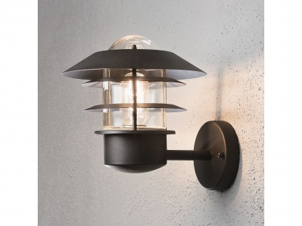 2er-Set Wandleuchten MODENA Aluminium schwarz, E27, Höhe 24 cm, IP44 - Vorschau 5