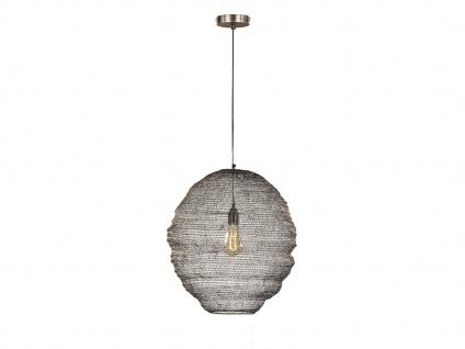 Design Pendelleuchte mit Lampenschirm altmessing 35cm, moderne Esstischlampe E27