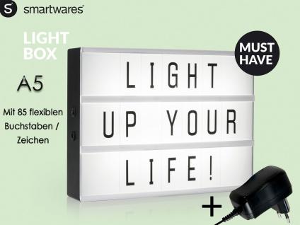 Light-Box / Leuchtkasten A5 mit 85 Buchstaben, inkl. Netzadapter Leuchtwerbung