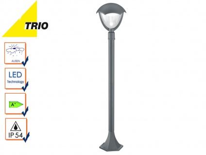 Trio LED Wegeleuchte Pollerleuchte GRACHT anthrazit, Außenlampe Gartenlaterne