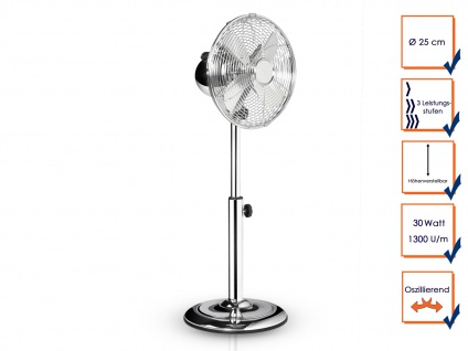Leiser Oszillierender Stehventilator aus Metall ? Zimmerventilator Windmaschine