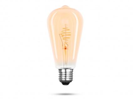 FILAMENT LED Leuchtmittel ST64 mit 3 Watt, 150 Lumen, 2000 Kelvin, E27-Sockel - Vorschau 2