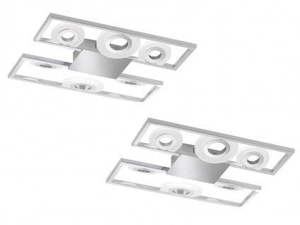 LED Deckenleuchten 2er Set 6flammig, Deckenbeleuchtung für Flur Wohnzimmer Büro
