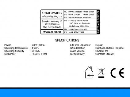 2 in 1 Kombi-Detektor, CO², Butan, Propan, Methan, Halbleitersensor - Vorschau 3