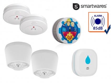 2-Raum-Wohnung Alarmset Rauch Hitze Wasser, Wärmemelder Feuerschutz Wasserwarner - Vorschau 3