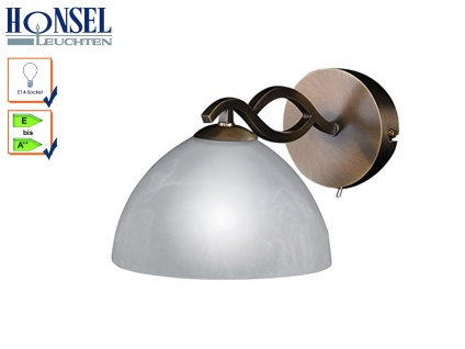 Wandleuchte Wandlampe Lampe altmessing Schirm alabaster PASTILLE A. 27 cm