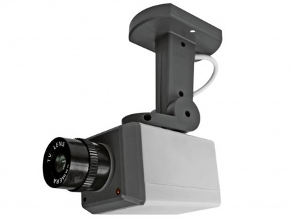 Überwachungskamera Dummy Attrappe mit LED blinkend, Bewegungsmelder & Drehmotor - Vorschau 2