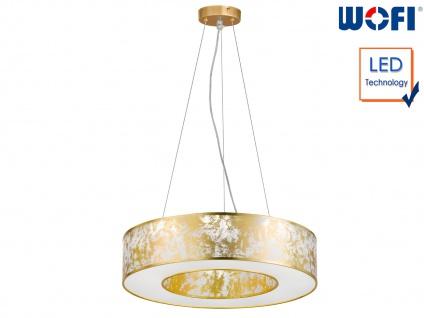 LED Pendelleuchte Ø 51 cm goldfarben 21W Deckenbeleuchtung Pendel Wohnzimmer